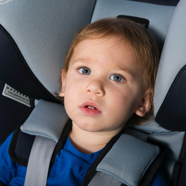 Queensland Car Seat Hire services - Photo of toddler sitting in forward-facing car seat.