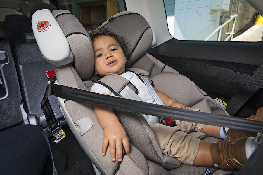 Kidsafe Queensland - photo of baby in rear-facing car seat.