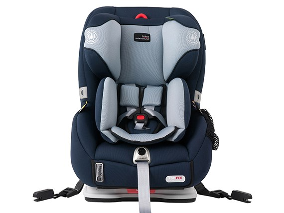 Front view of Britax Safe n Sound Millenia child car seat sold by Kidsafe Queensland.