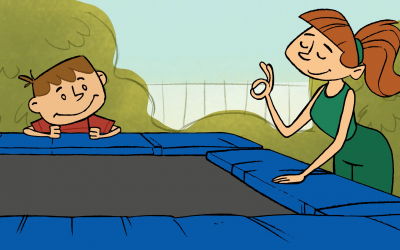 Jump, Bounce, Laugh: How to help play safely on trampolines